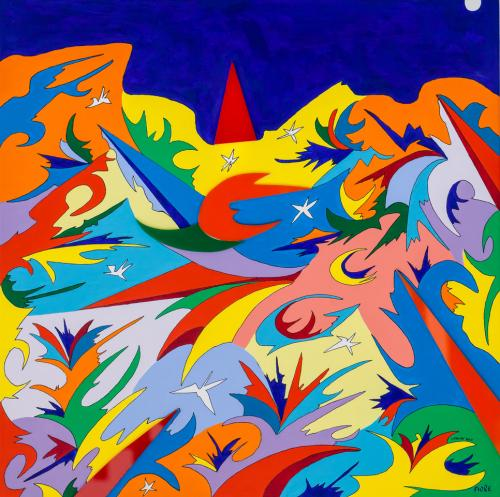 Sinfonia spaziale di stelle e colori, 2020